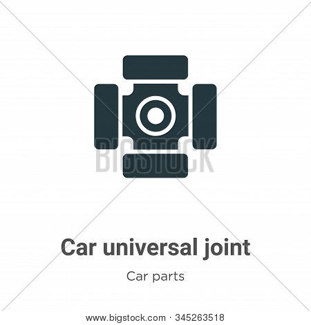 Car Universal Joint Vector Icon On White Background. Flat Vector Car Universal Joint Icon Symbol Sig