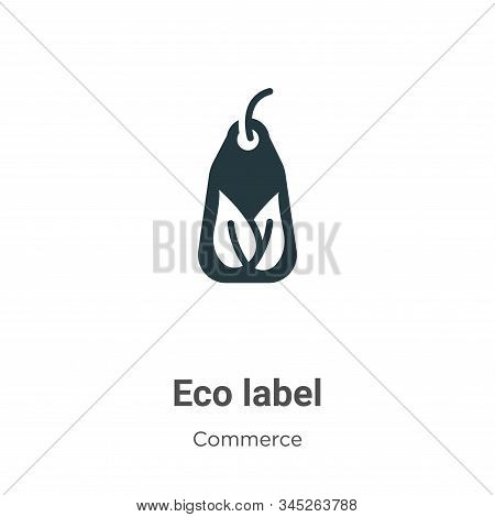 Eco label icon isolated on white background from commerce collection. Eco label icon trendy and mode