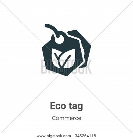 Eco tag icon isolated on white background from commerce collection. Eco tag icon trendy and modern E