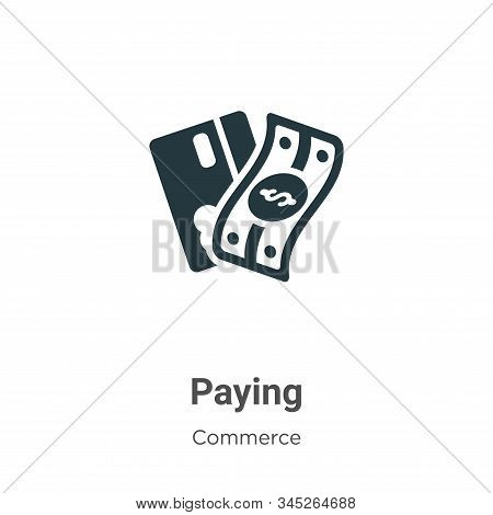 Paying icon isolated on white background from commerce collection. Paying icon trendy and modern Pay