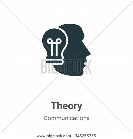 Theory icon isolated on white background from communications collection. Theory icon trendy and mode