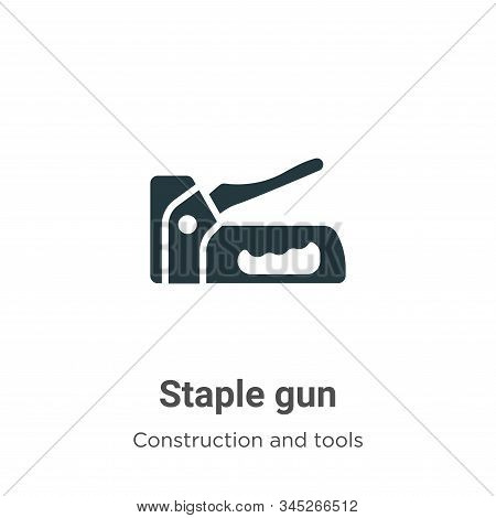 Staple gun icon isolated on white background from construction and tools collection. Staple gun icon