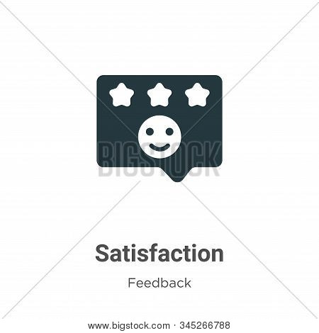 Satisfaction icon isolated on white background from feedback collection. Satisfaction icon trendy an