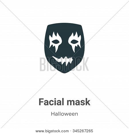 Facial mask icon isolated on white background from halloween collection. Facial mask icon trendy and