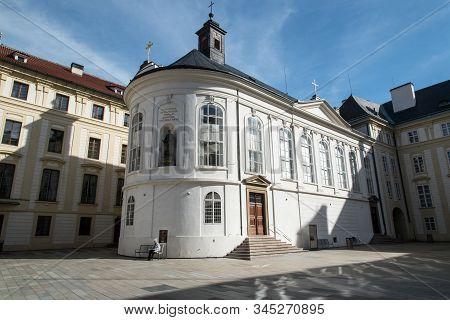 March,6, 2019: Praha, Czech Republic:  Kaple Sv. Krize Chapel On Prazsky Hrad In Praha City In Czech