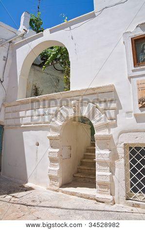 Historical palace. Ostuni. Puglia. Italy.