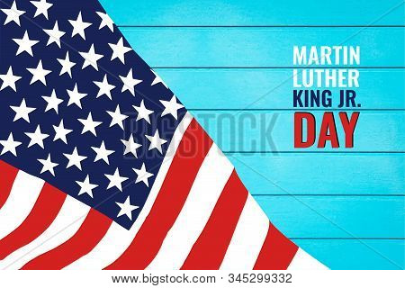 Martin Luther King Day Anniversary - American Flag Abstract Background Illustrator
