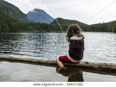 Mountain Lake Fishing