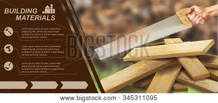 Flyer On The Topic Of Construction. Vector Illustration.