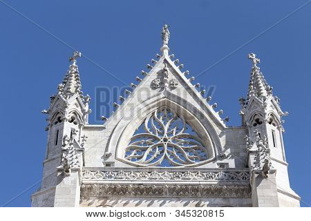 West Facade Of The Cathedral At Leon, Spain