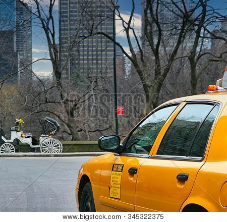 New York City - February 13, 2007: The Yellow Cab Company Shook Up The New York Cab System In The Mi