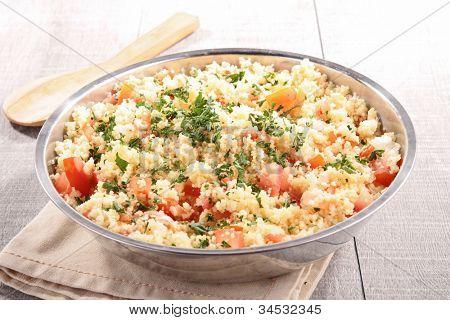 couscous salad with vegetables