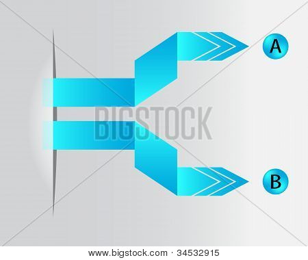 Special Blue Paper Origami Arrows