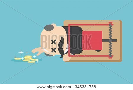 Illustration Concept Money Trap Incentive In Business