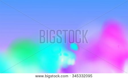 Bright Fog Effect, Realistic Colourful Steam Texture. Vibrant Colours. Vector Illustration For Your
