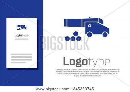 Blue Cannon With Cannonballs Icon Isolated On White Background. Medieval Weapons. Logo Design Templa