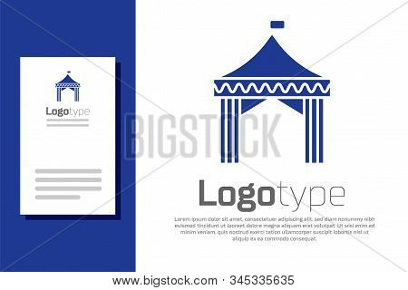 Blue Camping Tent Vector Photo Free Trial Bigstock