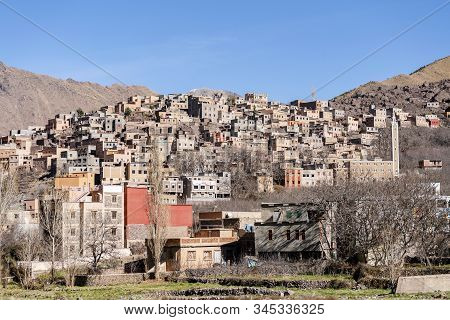 Amazing Berber Village Located In High Atlas Mountains, Morocco