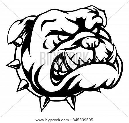 A Mean Looking Cartoon Bulldog Dog Animal