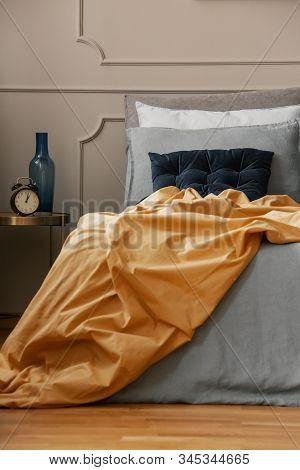 Luxury And Famine Bedroom Interior In Modern Studio Apartment