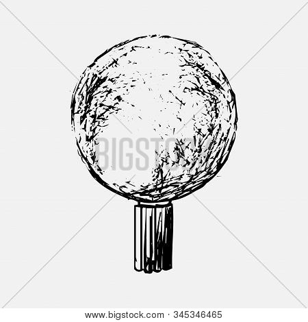 Magical Light Bulb Drawn By Hand. Can Be Used As A Logo Or Idea. An Isolated Fortuneteller On A Whit