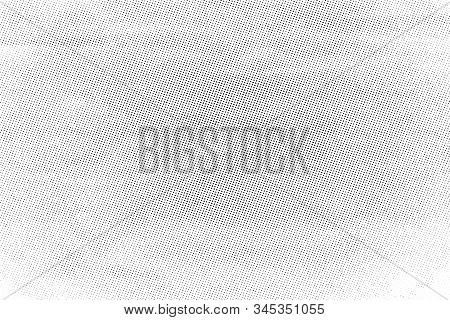Grunge Cloth Messy Background. Distressed Grainy Thread Overlay Texture. Dirty Rough Empty Cover Tem