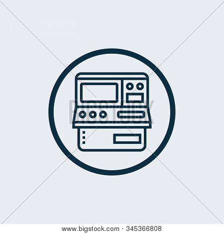 Arcade Icon Vector From Gaming Collection. Thin Line Arcade Outline Icon Vector Illustration. Linear