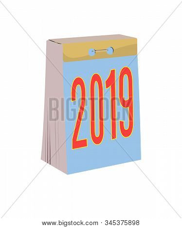 Detachable Calendar Realistic Vector Illustration Isolated No Background