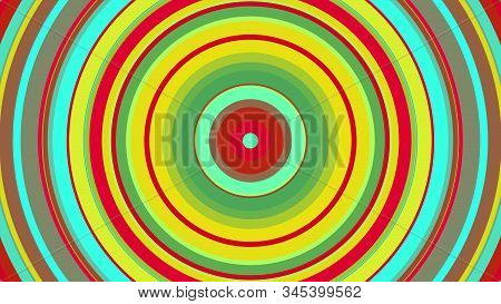 Colorful Circle With Hypnotic Spinning Motion, Computer Generated. 3d Rendering Of Abstract Vortex B