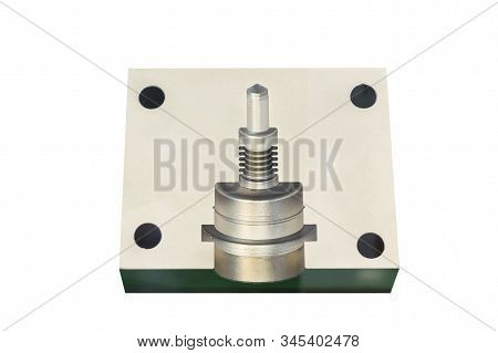 Cavity  Made By Metal Parts For  Tooling Or Mold Manufacturing ; Engineering Industrial Background ;