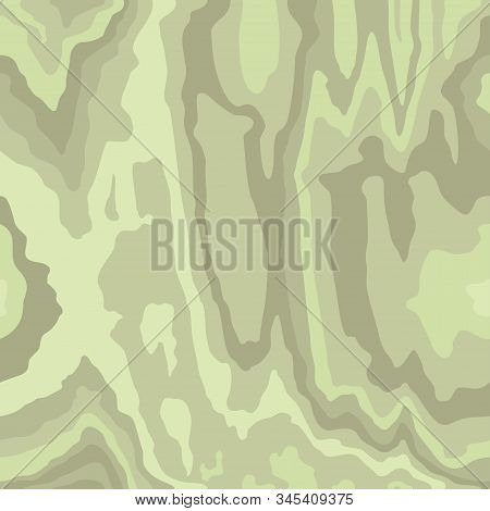 Wooden Light Green Pattern. Wood Grain Texture. Dense Lines. Abstract  Background. Vector