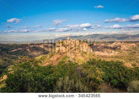 Civita Di Bagnoregio Is A Town In The Province Of Viterbo In Central Italy, A Suburb Of The Comune O