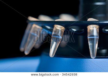 small plastick tube in centrifuge