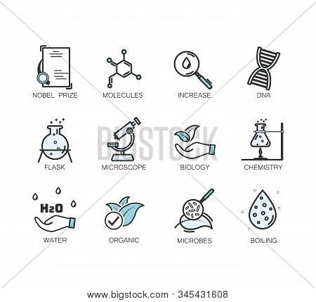 Set Of Icons For Different Medical Specialization.hypoallergenic Tested, Neutral Ph. Linear Set. Vec