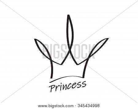 Luxury, Premium, Deluxe Sign. Hand Drawn Crown