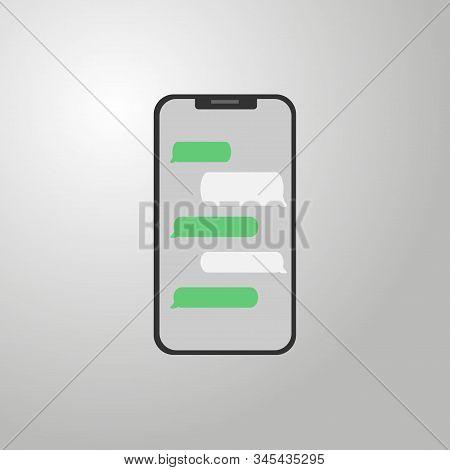 Creative Vector Illustration Of Messenger Window. Social Network Talking Art Design. Mobile Phone Li