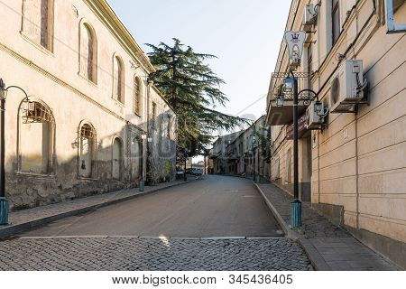 Kutaisi, Georgia, October 13, 2019 : Tbilisi Street In The Old Part Of Kutaisi In Georgia, In The Mo