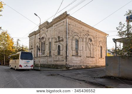 Kutaisi, Georgia, October 13, 2019 : The Sinagogue Building On The Boris Gaponov Street In The Old P