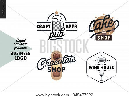 Logo - Small Business Graphics - Cafe And Restaurants. Modern Flat Vector Concept Illustrations - Lo