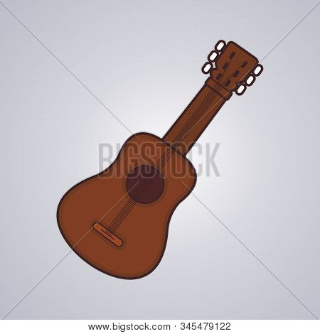 Guitar Icon Isolated On Gray Background. Guitar Icon Simple Sign. Guitar Icon Trendy And Modern Symb