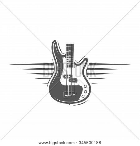 Part Of The Guitar Isolated On A White Background