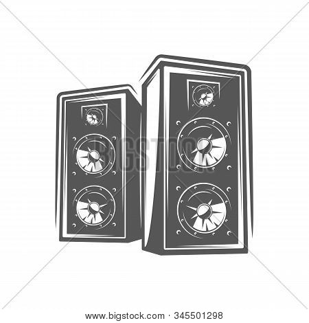 Studio Speakers Isolated On A White Background