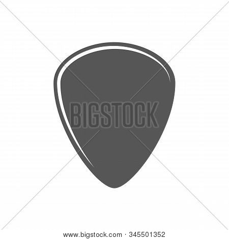 Flat Plectrum Isolated On A White Background