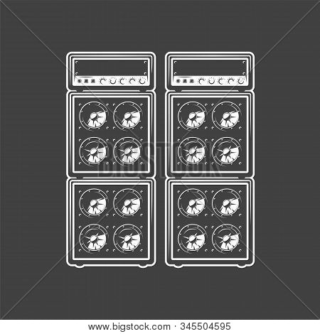 Concert Speakers Isolated On A Black Background