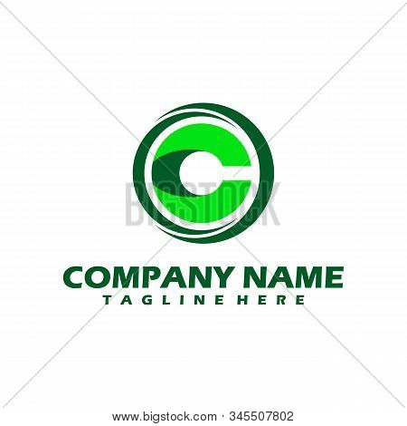 C Dots Logo Design Template. Hexagon C Icon. C Letter Logo Vector. Hexagon Logo, C Letter, C Dots, C