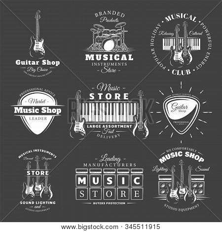 Set Of Vintage Musical Labels