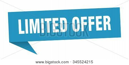 Limited Offer Speech Bubble. Limited Offer Sign. Limited Offer Banner