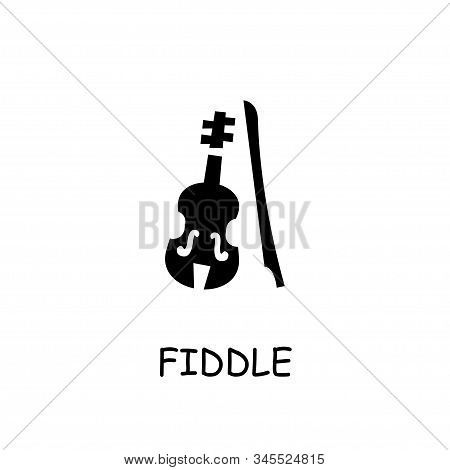 Fiddle Flat Vector Icon. Hand Drawn Style Design Illustrations.