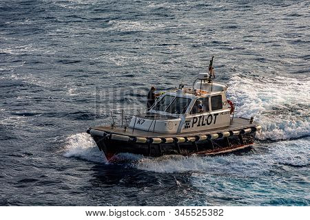 Fort Lauderdale, Florida - October 2, 2017: A Pilot Boat Is Used To Transport Maritime Pilots Betwee