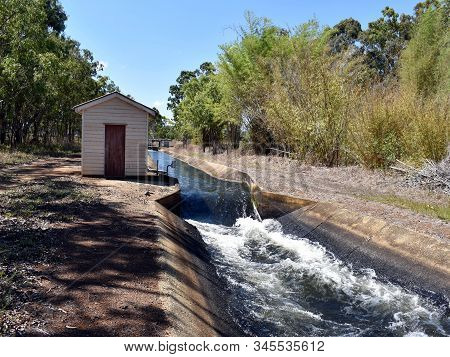 A Control Point For The Water Supply Across A Weir For Irrigation In The Atherton Tablelands